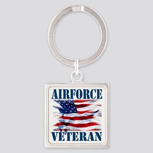 Airforce Veteran copy Square Keychain