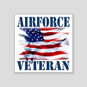 "Airforce Veteran copy Square Sticker 3"" x 3"""