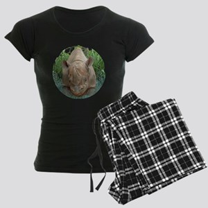 round rhino front/back Women's Dark Pajamas