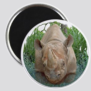 round rhino front/back Magnet
