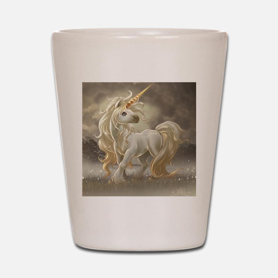 Golden unicorn Shot Glass