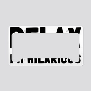 relax License Plate Holder