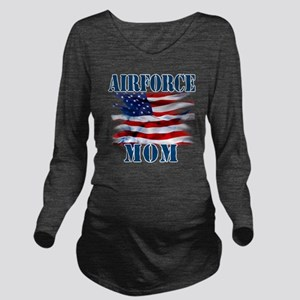 Airforce Mom Long Sleeve Maternity T-Shirt