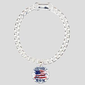 Airforce Mom Charm Bracelet, One Charm