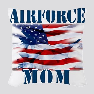Airforce Mom Woven Throw Pillow