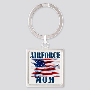 Airforce Mom Square Keychain