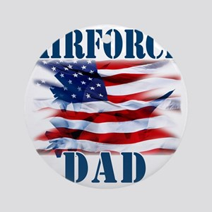 Airforce Dad Round Ornament