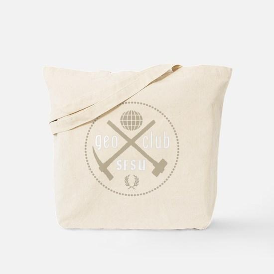 GeoClub tools logo over dark Tote Bag