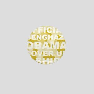 obama benghazi cover up camo l Mini Button