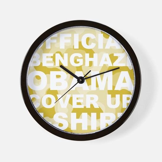 obama benghazi cover up camo l Wall Clock