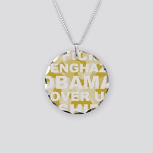 obama benghazi cover up camo Necklace Circle Charm