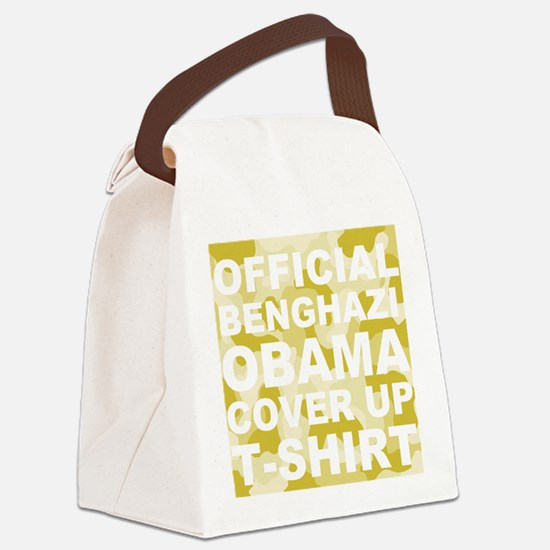 obama benghazi cover up camo l Canvas Lunch Bag
