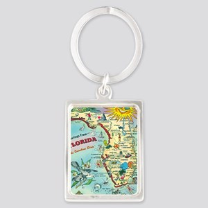 Vintage Greetings from Florida Portrait Keychain