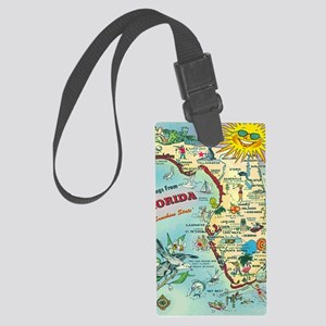 Vintage Greetings from Florida Large Luggage Tag