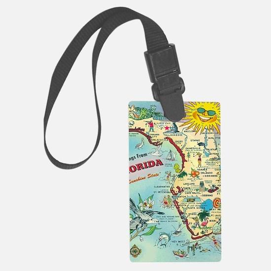 Vintage Greetings from Florida Luggage Tag
