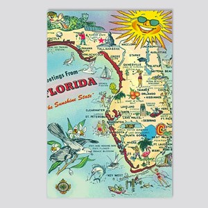 Vintage Greetings from Fl Postcards (Package of 8)
