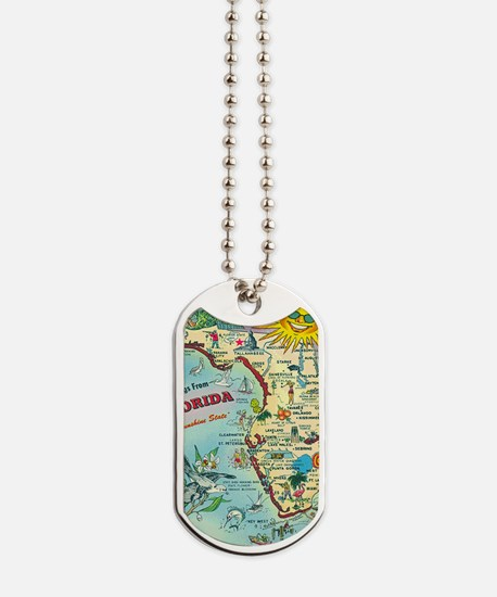 Vintage Greetings from Florida Dog Tags