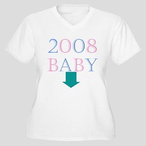 Baby 2008 Women's Plus Size V-Neck T-Shirt