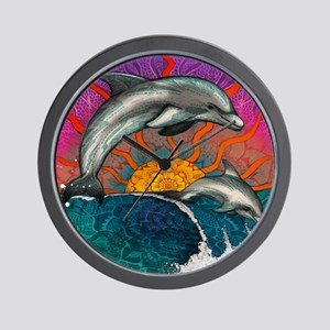 Dolphin Ocean Wave Wall Clock