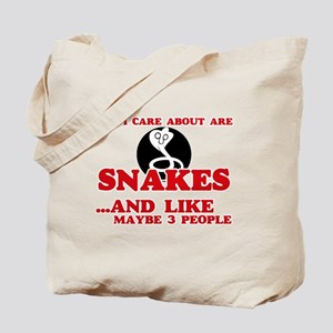 All I care about are Snakes Tote Bag