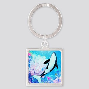 o3_leat_notepad_758_H_F Square Keychain