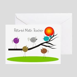 math teacher retirement greeting cards cafepress