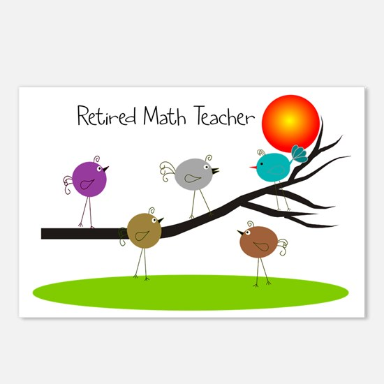retired Math teacher retr Postcards (Package of 8)
