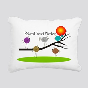 Retired Social worker A Rectangular Canvas Pillow