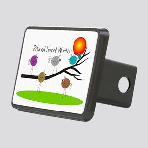 Retired Social worker A Rectangular Hitch Cover