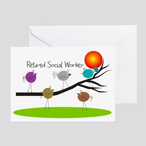 Retired Social worker A Greeting Card