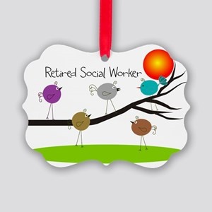 Retired Social worker A Picture Ornament