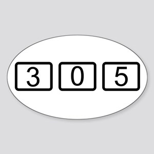 305 Calc Style Oval Sticker