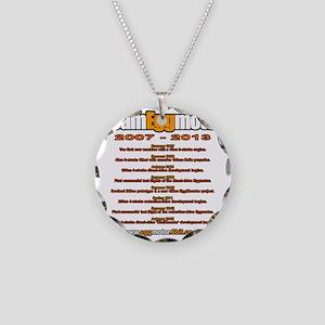 Chronological Necklace Circle Charm