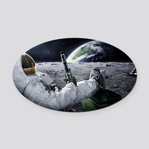 The World at Large Oval Car Magnet
