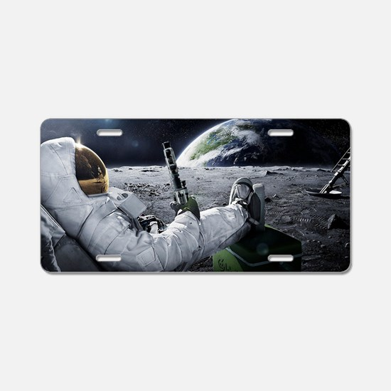 The World at Large Aluminum License Plate