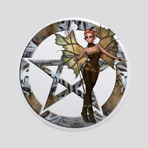 pentacle FAIRY Round Ornament