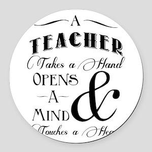 Teachers open minds Round Car Magnet