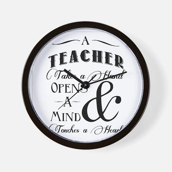 Teachers open minds Wall Clock