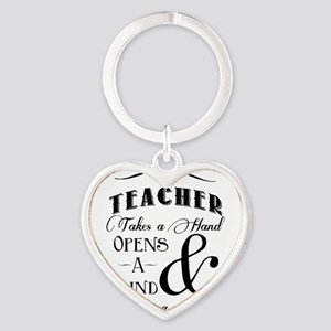 Teachers open minds Heart Keychain