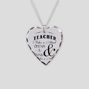 Teachers open minds Necklace Heart Charm