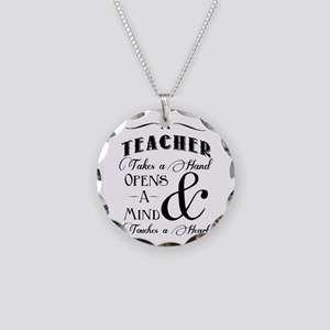 Teachers open minds Necklace Circle Charm