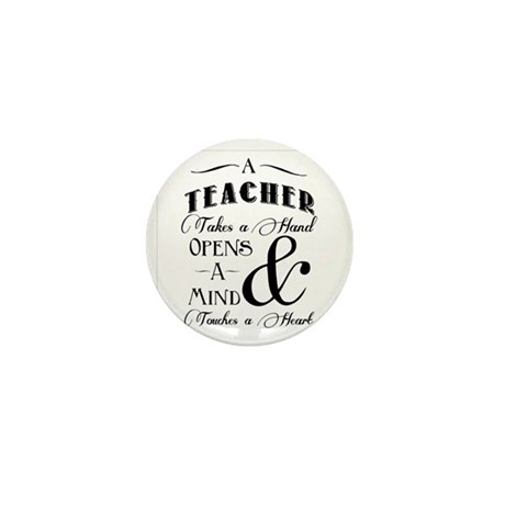 Teachers open minds Mini Button