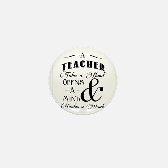Teachers open minds Mini Button
