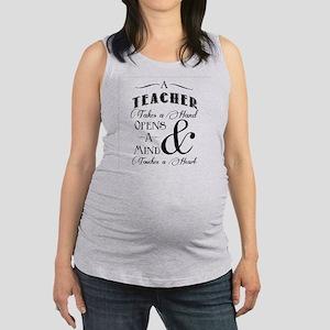 Teachers open minds Maternity Tank Top