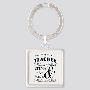 Teachers open minds Square Keychain