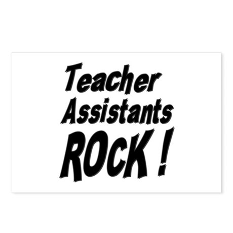 Teachers Assistants Rock ! Postcards (Package of 8
