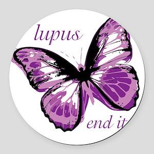 lupus end it Round Car Magnet