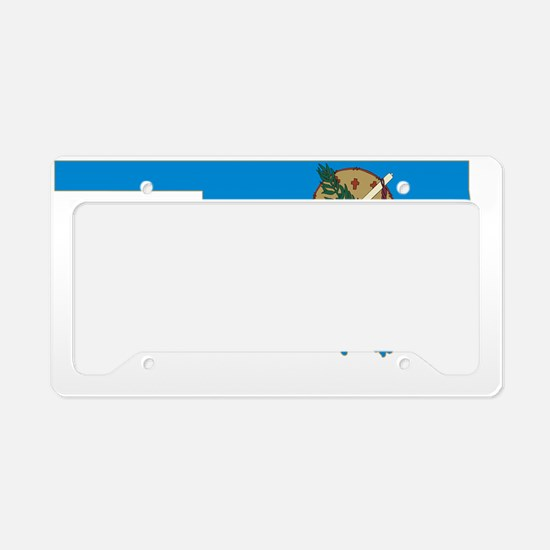 Oklahoma State Flag and Map License Plate Holder