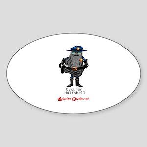 Oycifer Halfshell Oval Sticker