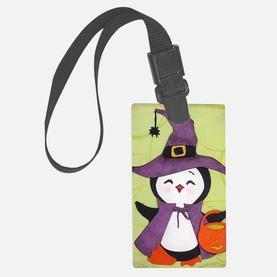 Happy Halloween Penguin cutie Luggage Tag